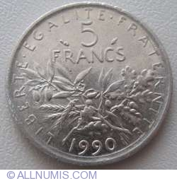Image #1 of 5 Francs 1990