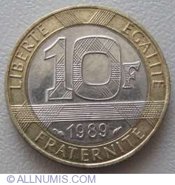Image #1 of 10 Francs 1989