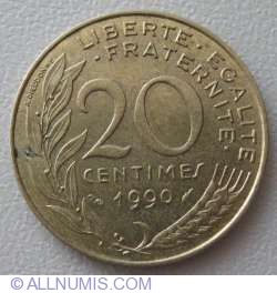 Image #1 of 20 Centimes 1990