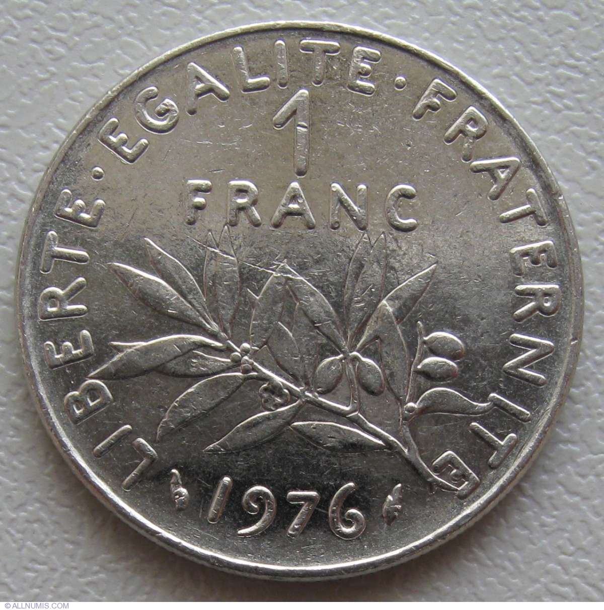 1 Franc 1976, Fifth Republic (1971-1985) - France - Coin - 869