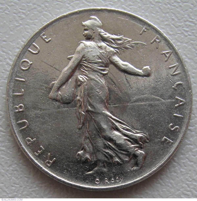 1 franc 1976 fifth republic 1971 1985 france coin 869 for France francs