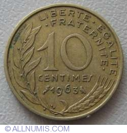Image #1 of 10 Centimes 1963