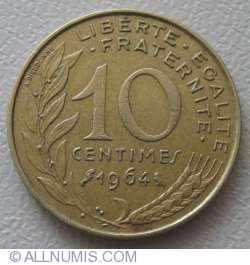 Image #1 of 10 Centimes 1964