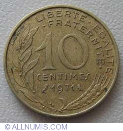 Image #1 of 10 Centimes 1971