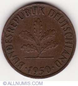 Image #2 of 2 Pfennig 1950 F