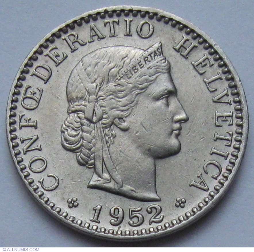 1961 confoederatio helvetica coin 20