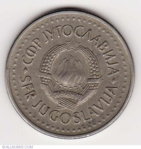 Coin Sets of All Nations Yugoslavia W//card UNC 10,5,2,1 Dinara 50,25 Para 1983