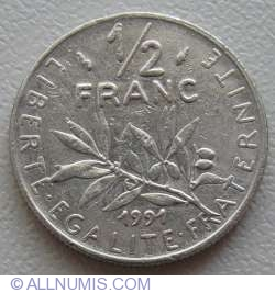 Image #1 of ½ Franc 1991