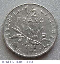 Image #1 of ½ Franc 1968