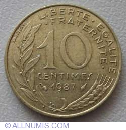 Image #1 of 10 Centimes 1987