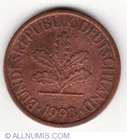 Image #2 of 2 Pfennig 1993 F
