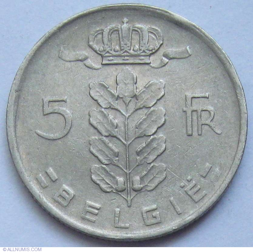 5 francs 1950 belgie leopold iii 1934 1951 belgium coin 614. Black Bedroom Furniture Sets. Home Design Ideas