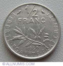 Image #1 of ½ Franc 1969