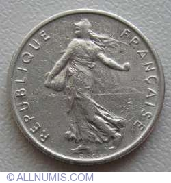 Image #2 of ½ Franc 1970