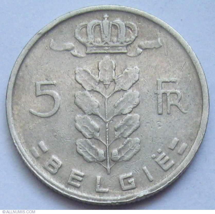5 francs 1965 belgie baudouin i 1961 1970 belgium coin 616. Black Bedroom Furniture Sets. Home Design Ideas