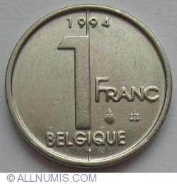 Image #1 of 1 Franc 1994 (Belgique)