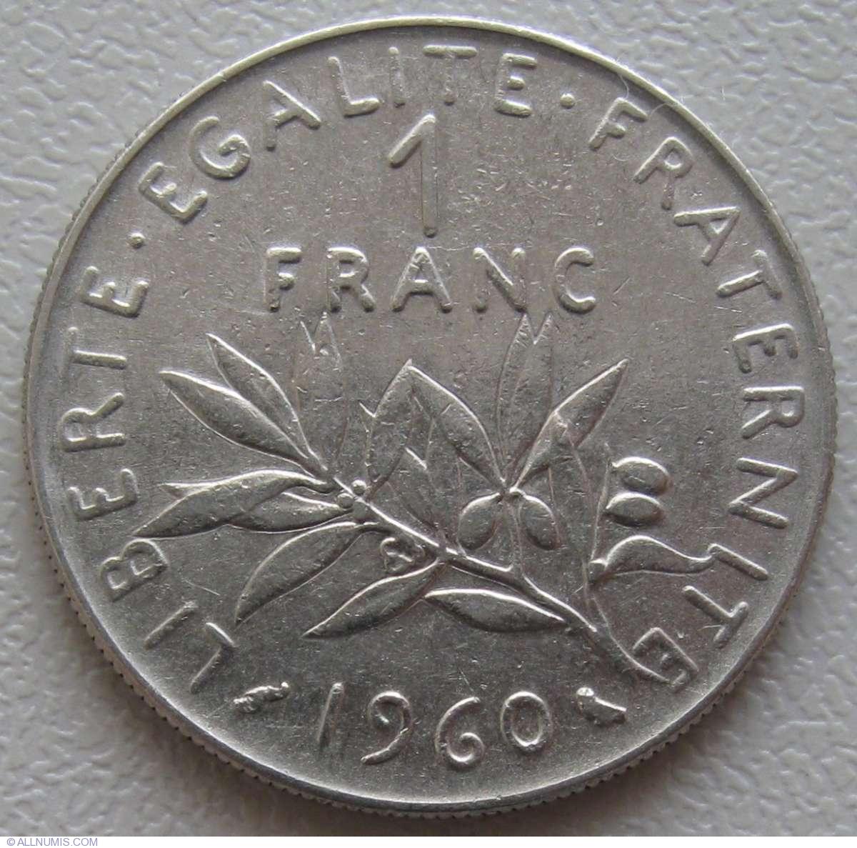 1 франк 1960 1 евро это