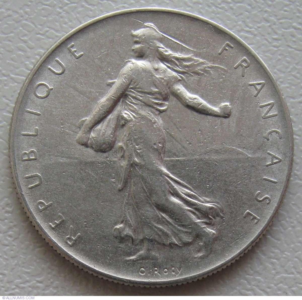1 Franc 1960, Fifth Republic (1958-1970)
