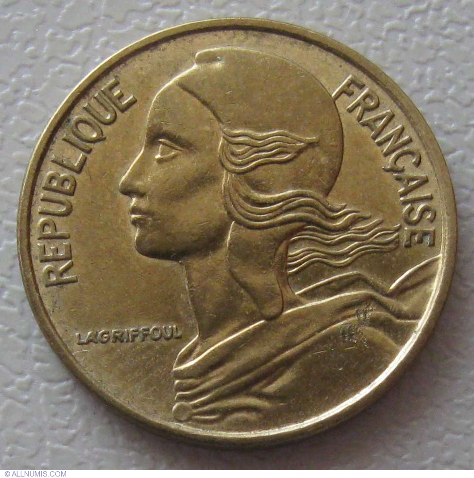 5 Centimes 1974 Fifth Republic 1971 1985 France Coin 943