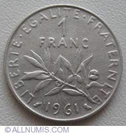 Image #1 of 1 Franc 1961