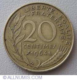 Image #1 of 20 Centimes 1964
