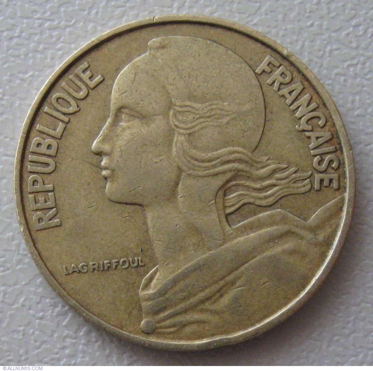 20 Centimes 1964, Fifth Republic (1958-1970)