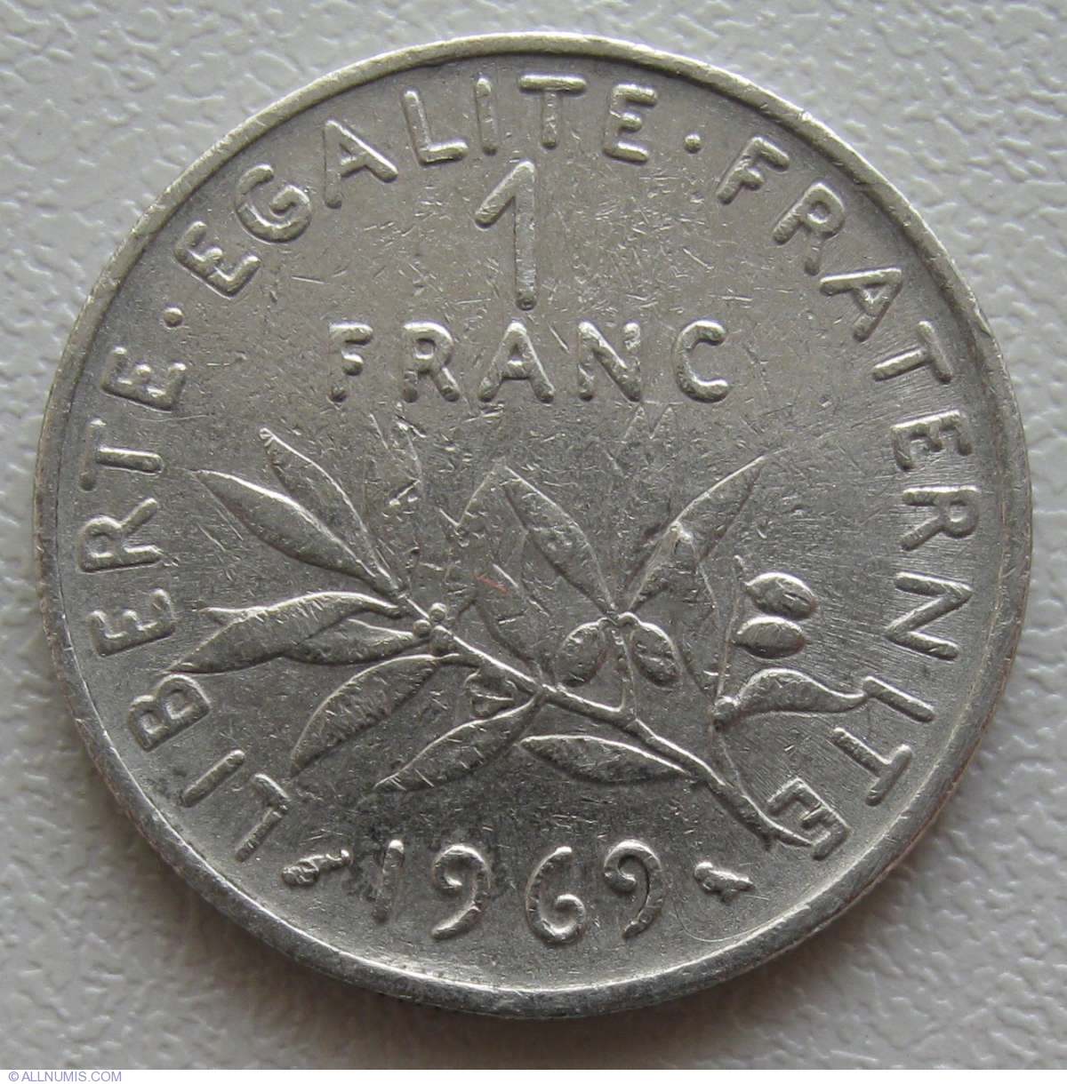 1 franc 1969 fifth republic 1958 1970 france coin 863 for France francs