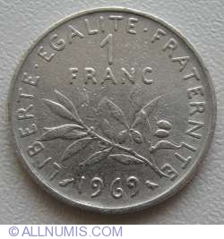 Image #1 of 1 Franc 1969