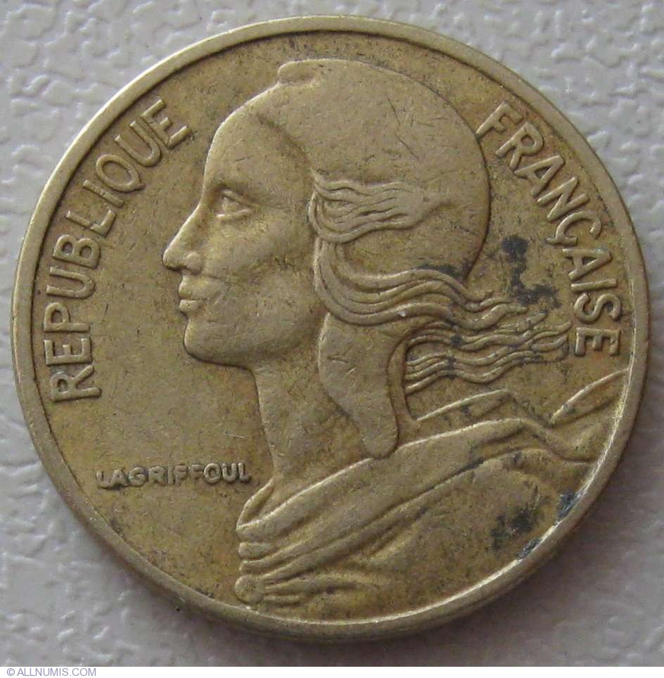 5 Centimes 1978 Fifth Republic 1971 1985 France Coin 946