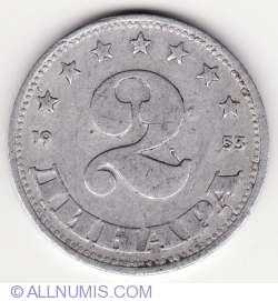 Imaginea #1 a 2 Dinari 1953