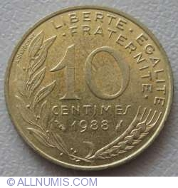 Image #1 of 10 Centimes 1988