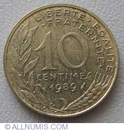 Image #1 of 10 Centimes 1989