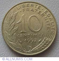 Image #1 of 10 Centimes 1992