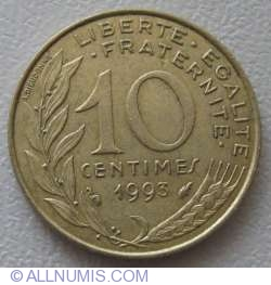 Image #1 of 10 Centimes 1993