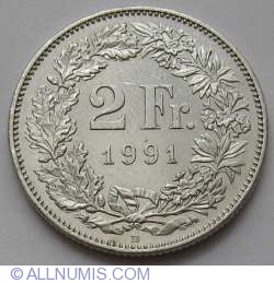 Image #1 of 2 Francs 1991