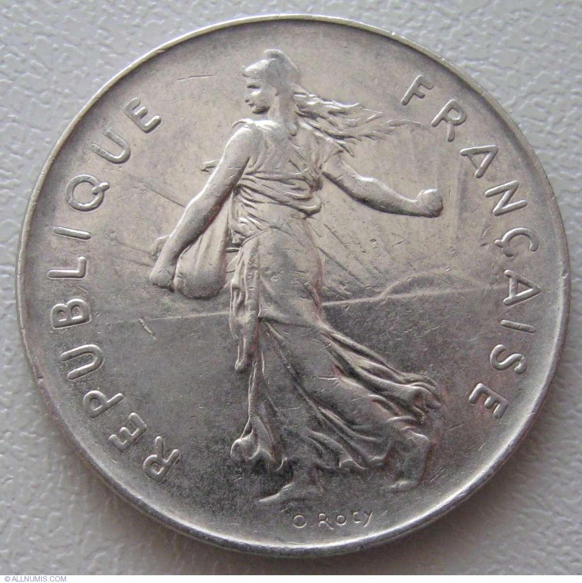 5 Francs 1978 Fifth Republic 1971 1985 France Coin 935