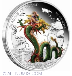 Image #1 of 1 Dollar 2012 - Dragons Of Legend - Chinese Dragon