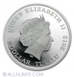Image #2 of 1 Dollar 2012 - Dragons Of Legend - Red Welsh Dragon