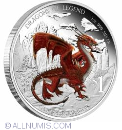 Image #1 of 1 Dollar 2012 - Dragons Of Legend - Red Welsh Dragon