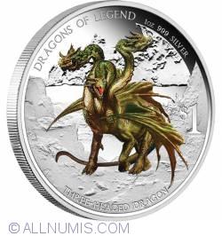 Image #1 of 1 Dollar 2013 - Dragons Of Legend - Three Headed Dragon