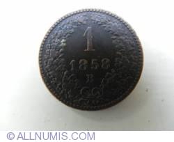 Image #1 of 1 Kreuzer 1858 B