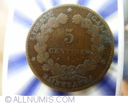 Image #1 of 5 Centimes 1872 A