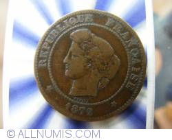Image #2 of 5 Centimes 1872 A