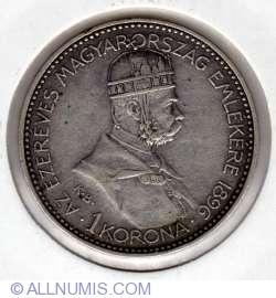 1 Korona 1896 - Hungarian Millenium