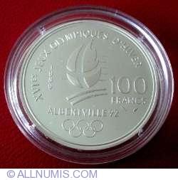 Image #1 of 100 Francs 1989 - Slalom Skiers