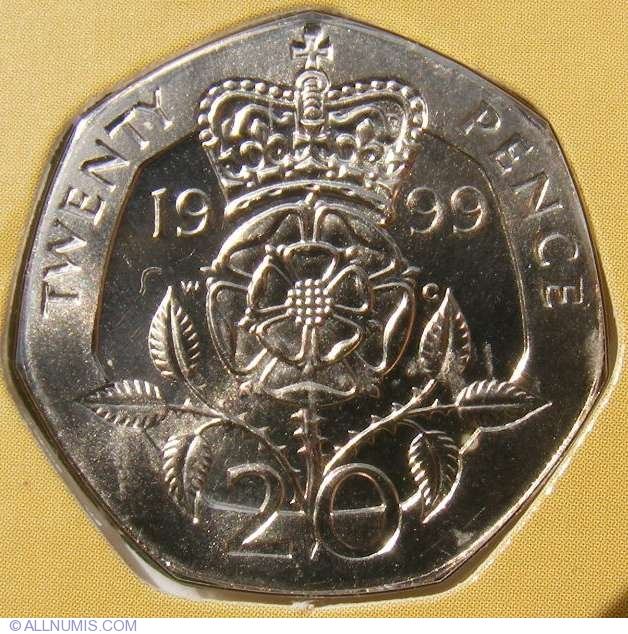 20 Pence 1999, Elizabeth II (1952-present) - Great Britain