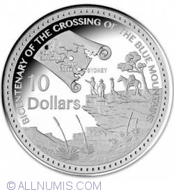 10 Dollars 2013 - 200th years since the crossing of the Blue Mountains