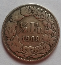 Image #1 of 1/2 Franc 1909