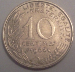Image #1 of 10 Centimes 1966