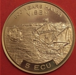 Image #2 of 5 Ecu 1994 - 800th Anniversary Port of Visby